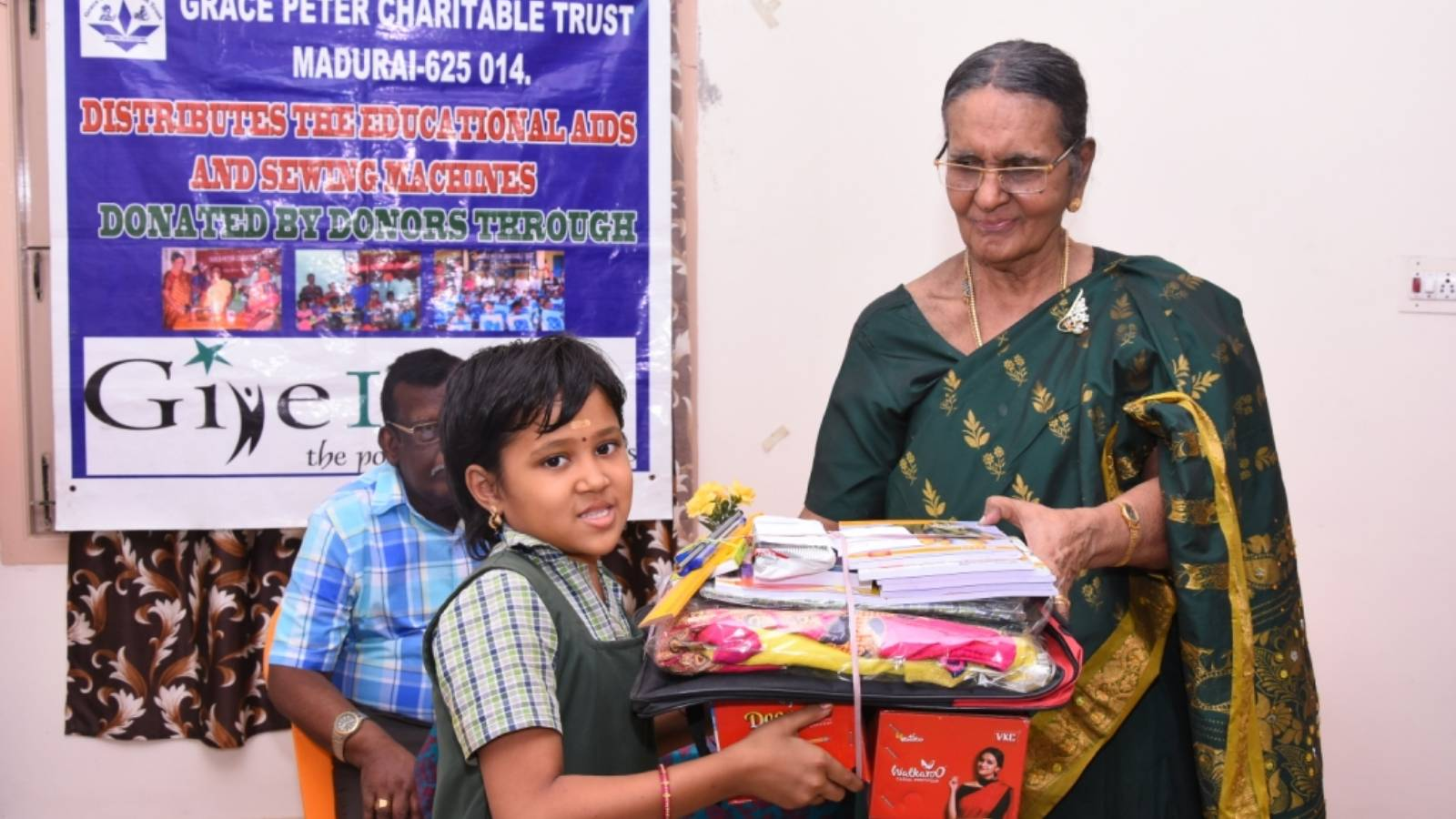 A child receiving Educational Support Materials