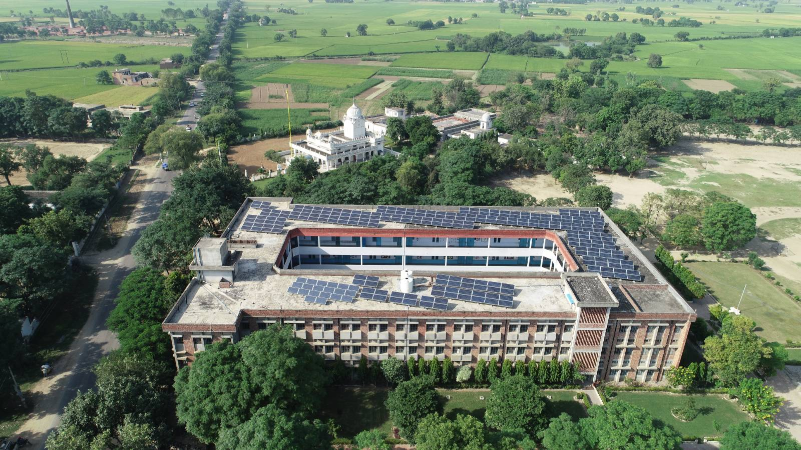Aerial View of Akal Academy Fatehgarh Channa