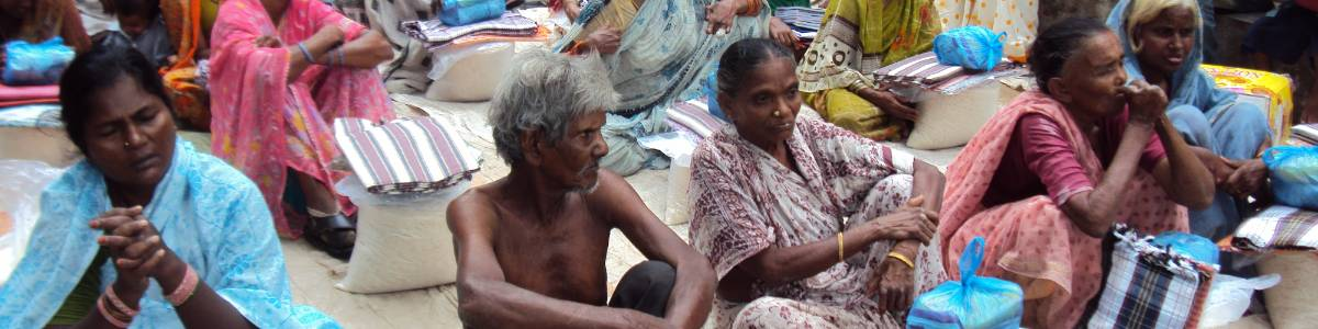Provide nutrition to a poor disable  persons