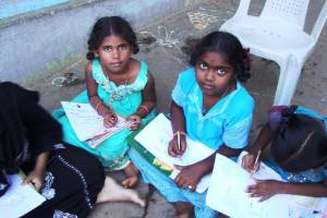 Coaching classes for school children from 2 slums of Trichy