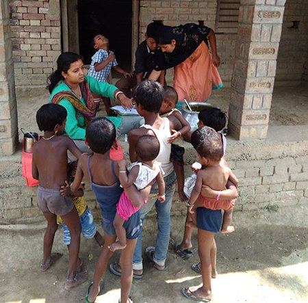 Supplementary nutrition to eradicate malnutrition in children and promotion of health seeking behaviour