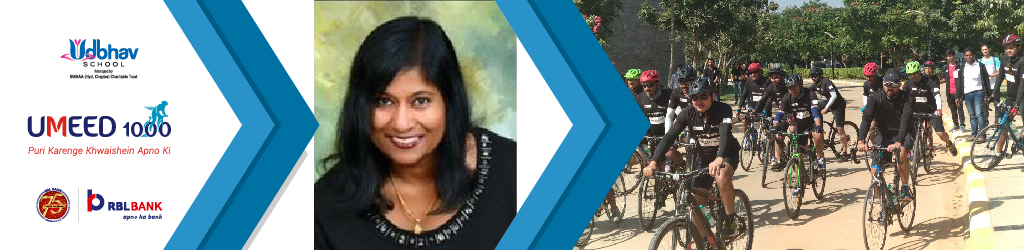 Prithi Gopinath Cycles for Girls' Education as part of Umeed 1000 Cyclothon