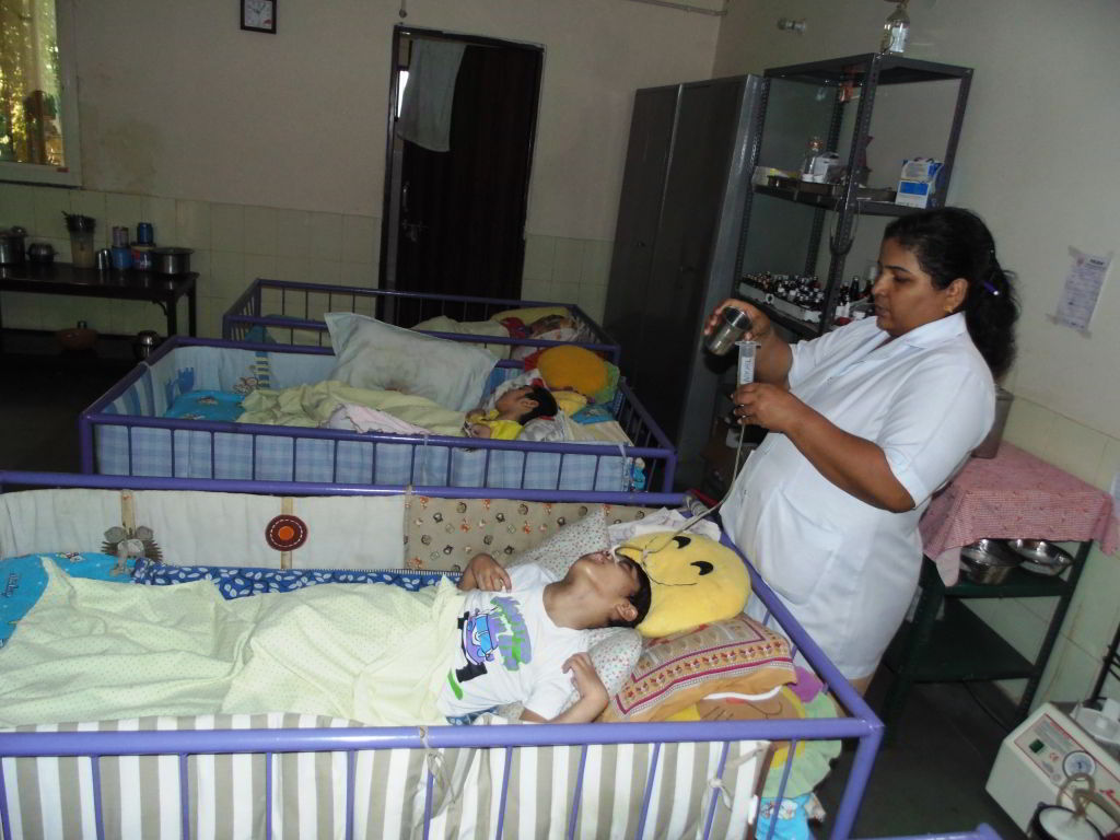 Support medical expenses for abandoned challenged children at Palna Bal Chetna