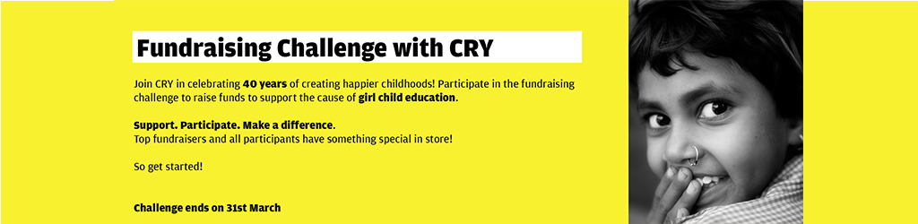 Fundraising Challenge with CRY