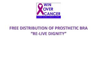 Free Distribution of Prosthetic Bra to Poor Breast Cancer Patients
