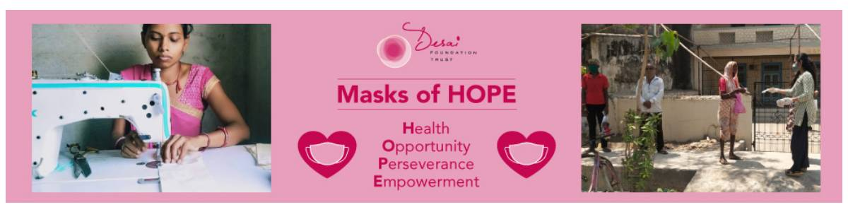 Masks of HOPE - Health - Opportunity - Perseverance - Empowerment