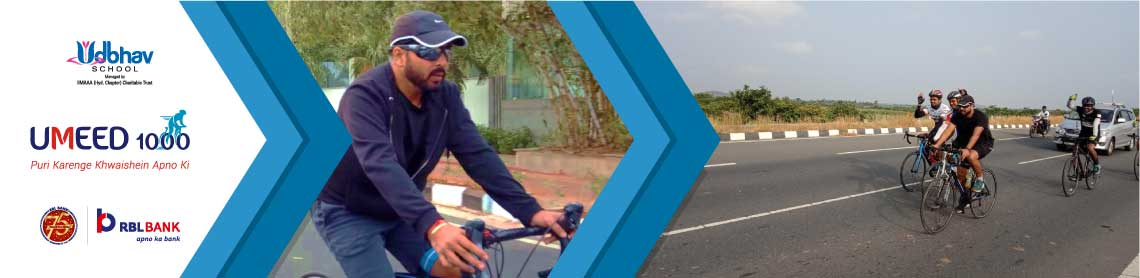 Jasmeet Cycles for Girls' Education as part of Umeed 1000 Cyclothon
