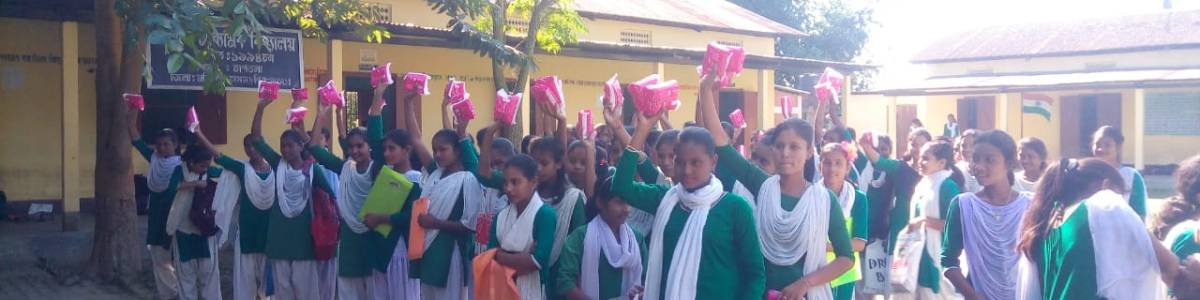 Provision of sanitary napkins to young girl students of schools located in remote areas