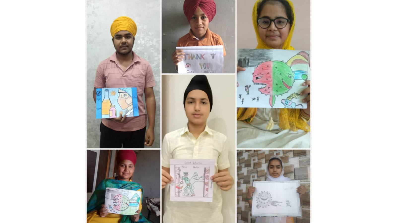 Painting by Akal Academy Students during COVID19