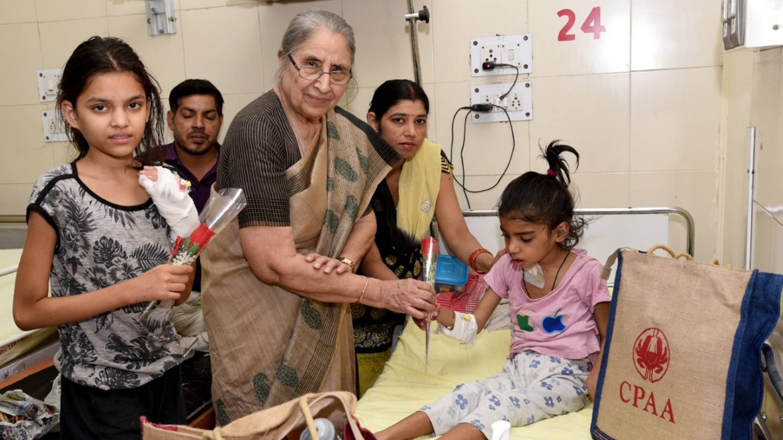 Rose Day Celebration at government hospitals