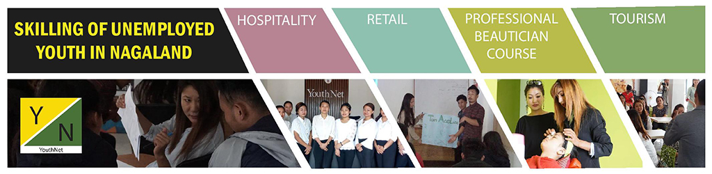 Skilling of unemployed youth in Nagaland in the areas of retail, hospitality, tourism and professional beautician course