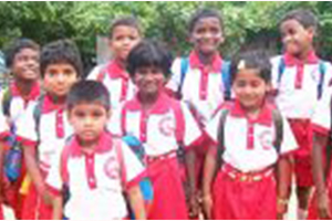 Caring concept for HIV /AIDSchildren  in India.