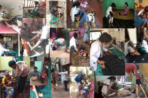Livelihood for differently able persons affected by endosulfan pesticide