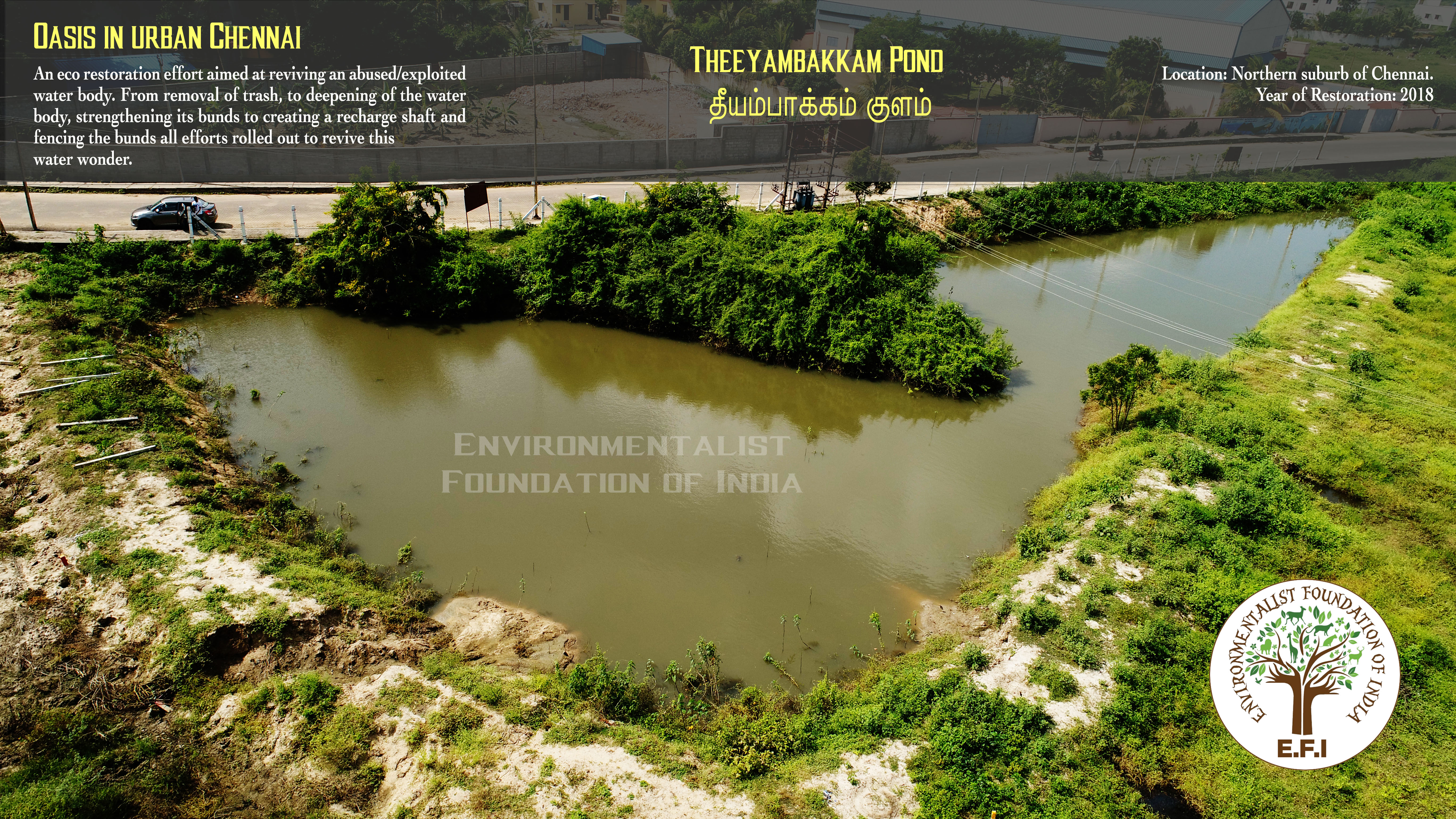 Eco Restoration of Rural Ponds in Coimbatore