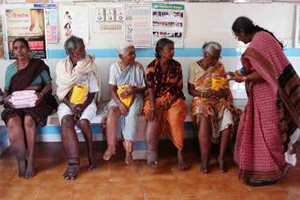 Help to organize health camps for Filariasis patients in slums