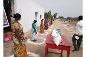 Emergency relief - Supply of food material kits to the SC, ST community in villages due to COVID-19 pandemic