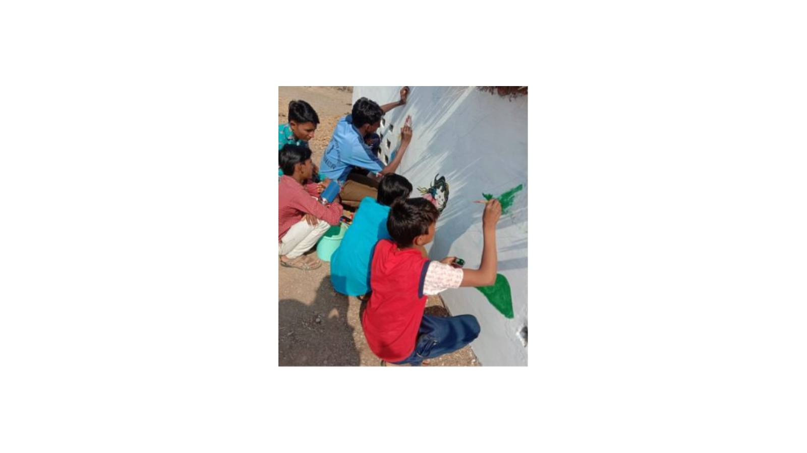 Painting walls (Co-scholastic)