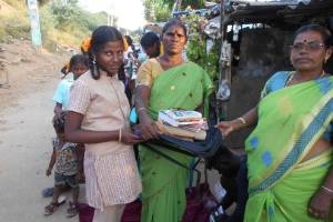 Support a poor student to send school with uniforms and writing materials