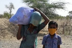 Covid-19 relief fund – To provide ration material to the poor families in desert!