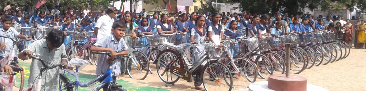 Providing School-Going Children with Bicycles