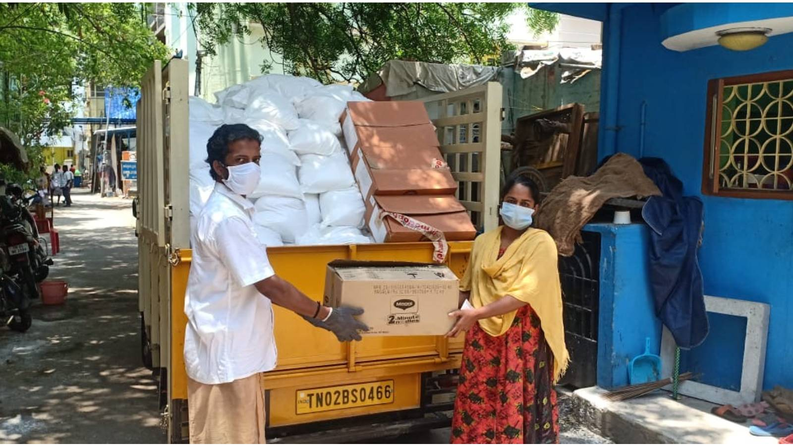 Relief efforts in Chennai during Covid-19