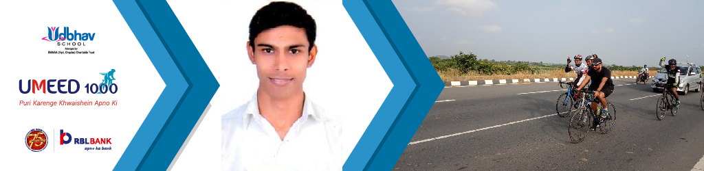 Kalpesh Mali Cycles for Girls' Education as part of Umeed 1000 Cyclothon