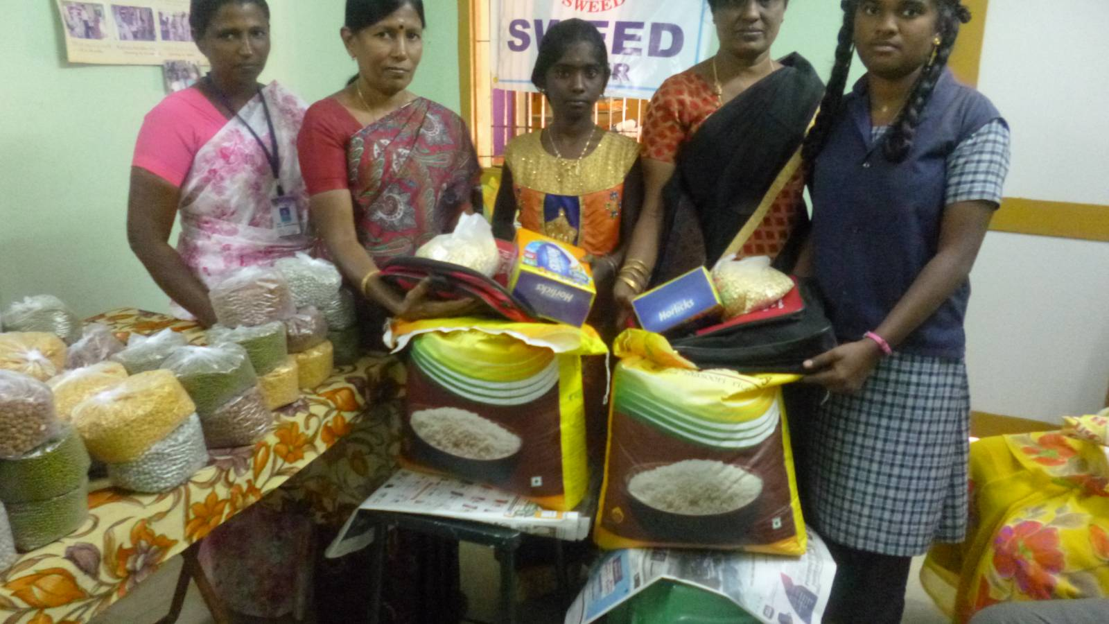 Rice and Pulses support for Poor people