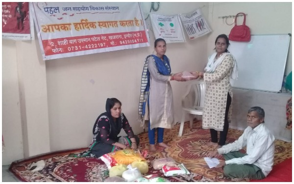 Ration distribution to poor Tuberculosis patients