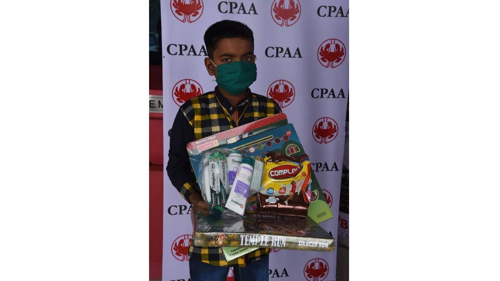 Goody Bag with nutrients for children batting cancer