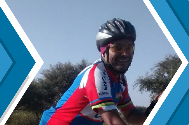 Harshvardhan Sharma Cycles for Girls' Education as part of Umeed 1000 Cyclothon