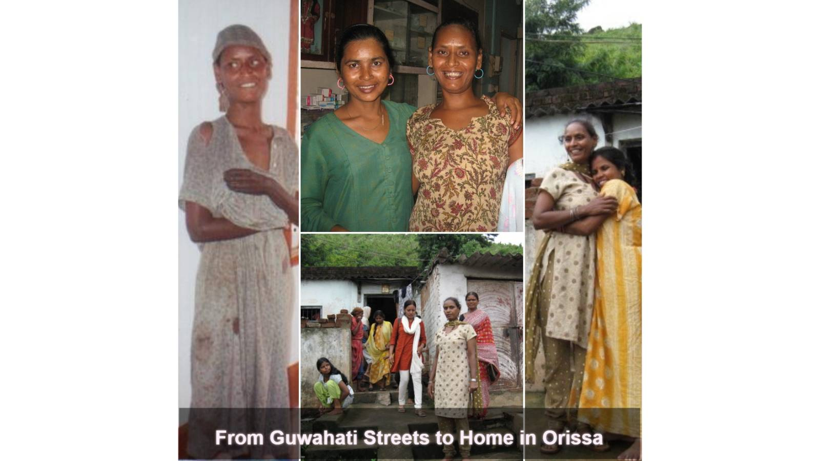 Transformation of a homeless woman with mental illness reunited with her family
