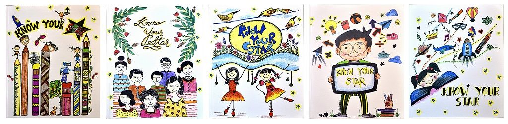 """Gift """"Know Your Star"""" Role Model Story Workbook Series - 5 Volumes to Rural and Underprivileged Students"""