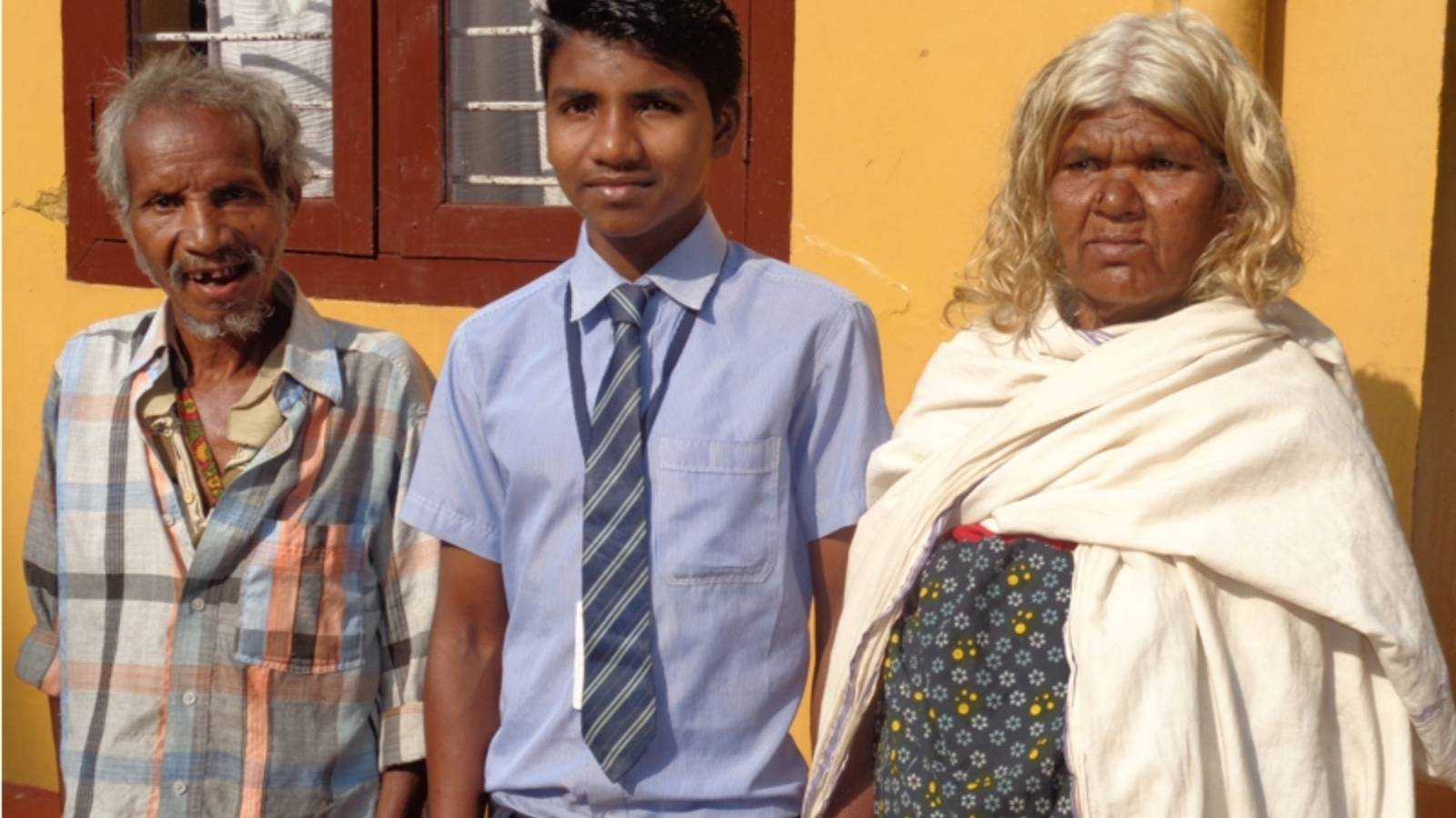 Student with Grand parents